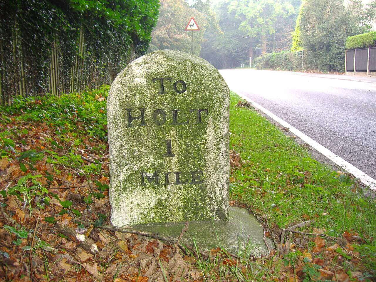 milestone 1 mile to holt