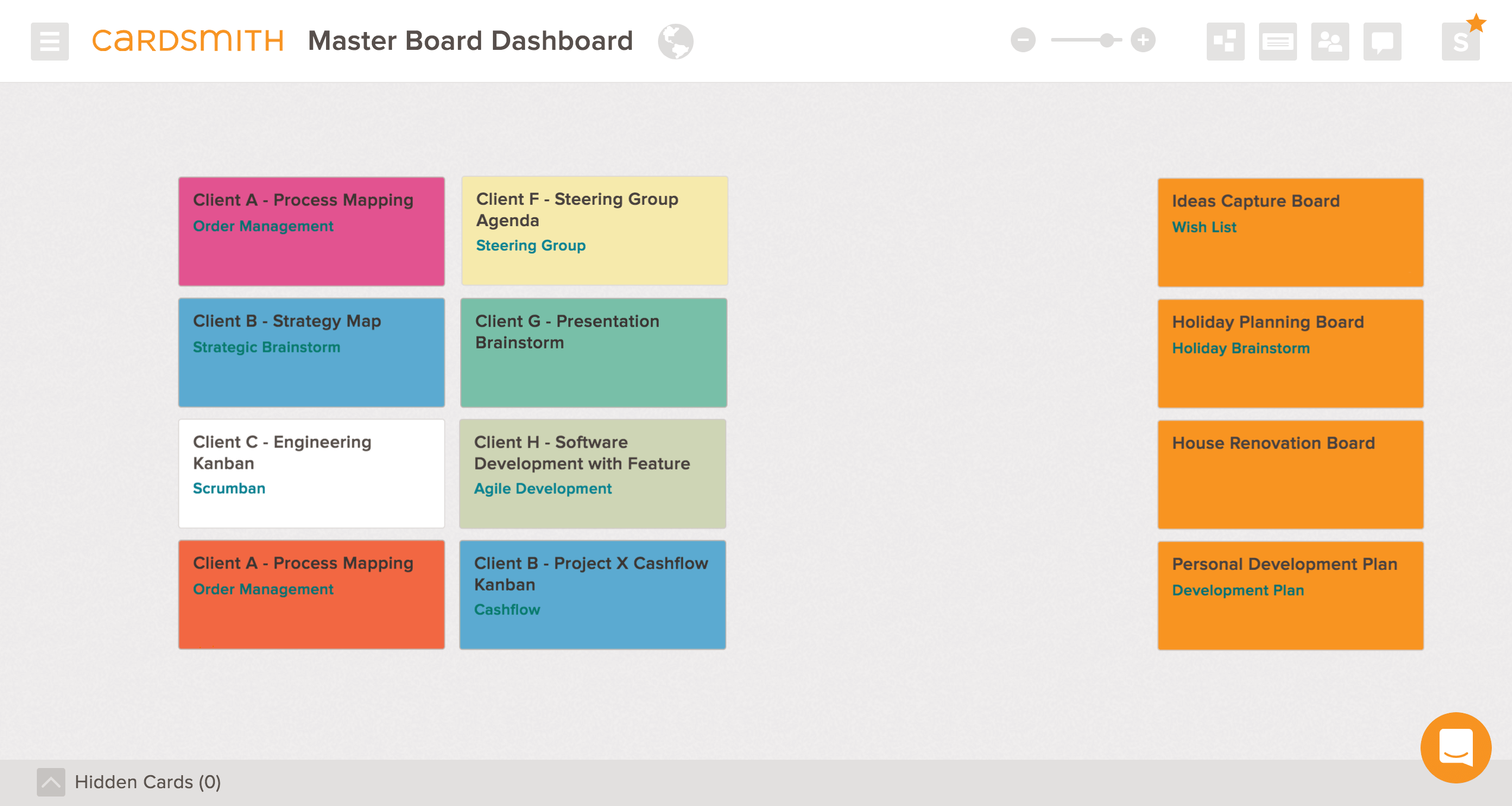 dashboard template board
