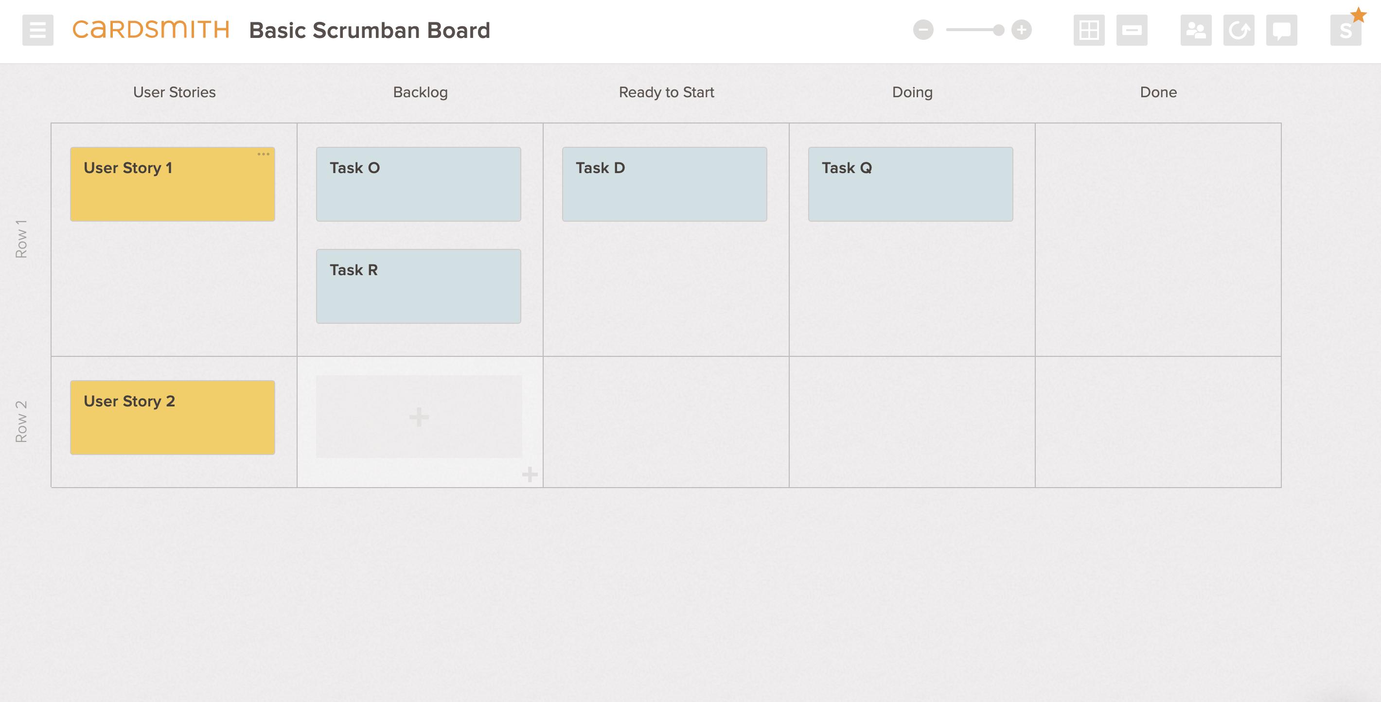 scrumban scrum board template