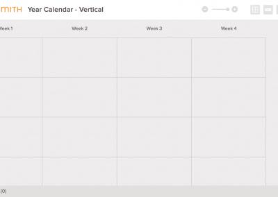 Year Calendar Vertical