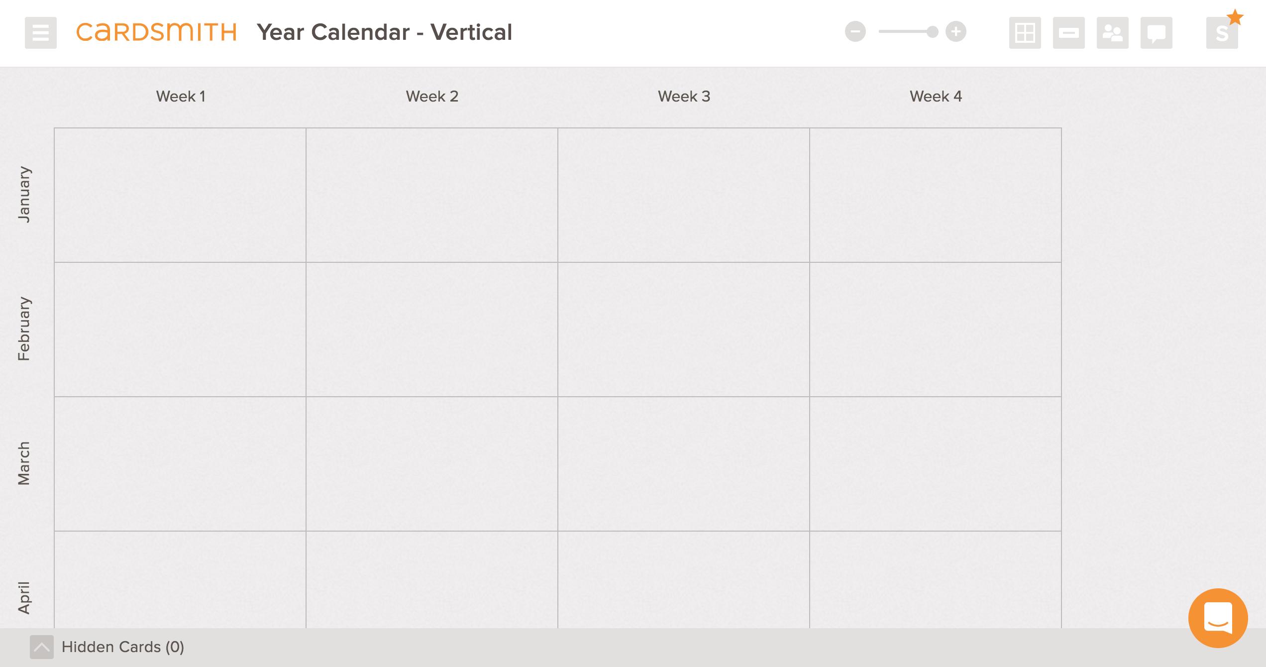 calendar year vertical