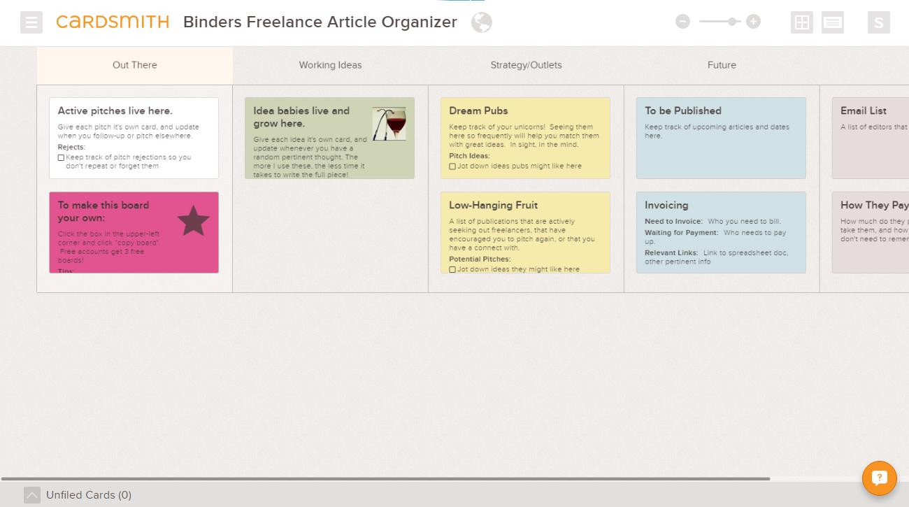 freelance writer article tracker example