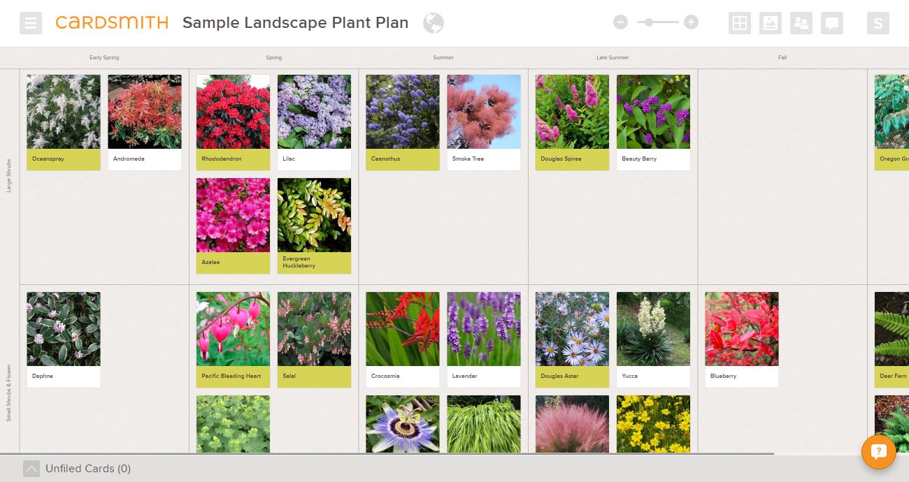 landscape plant catalog catalogue