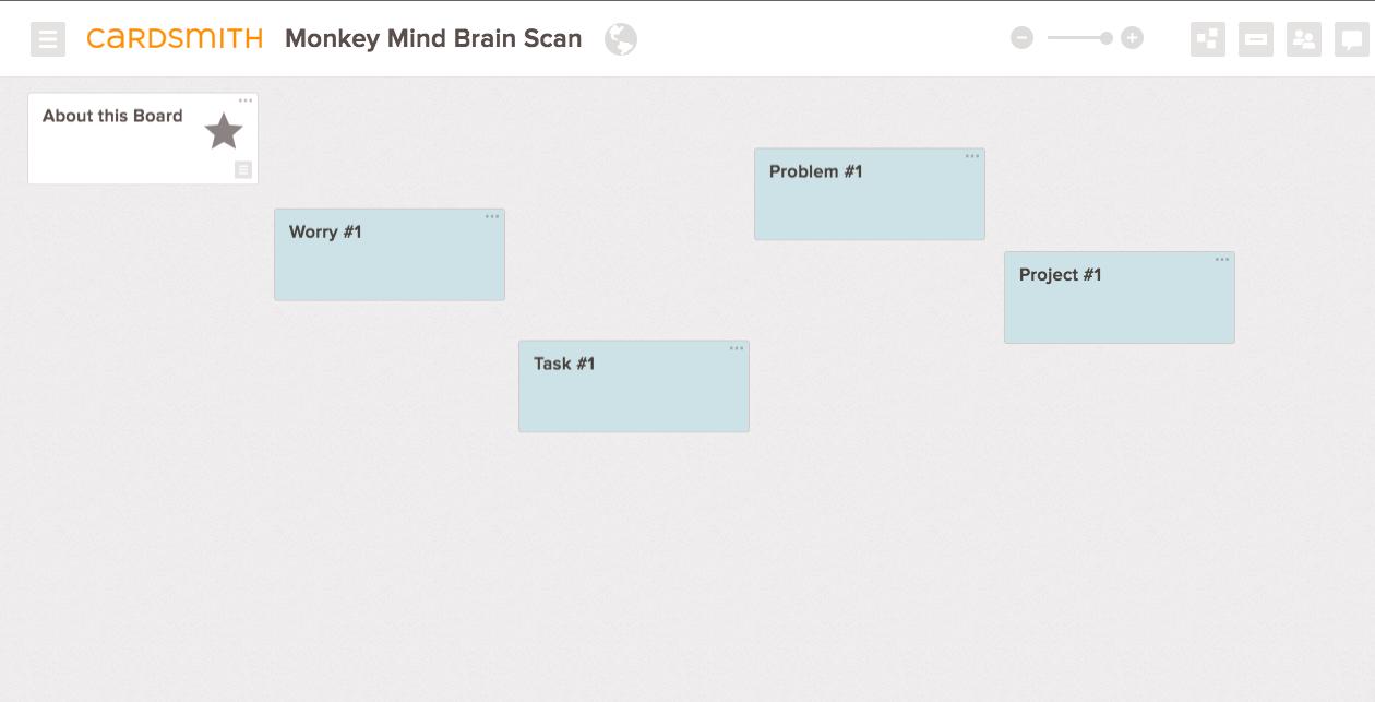 monkey mind brainstorm template