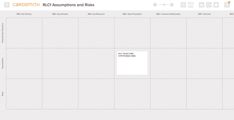 rlc assumptions risks template