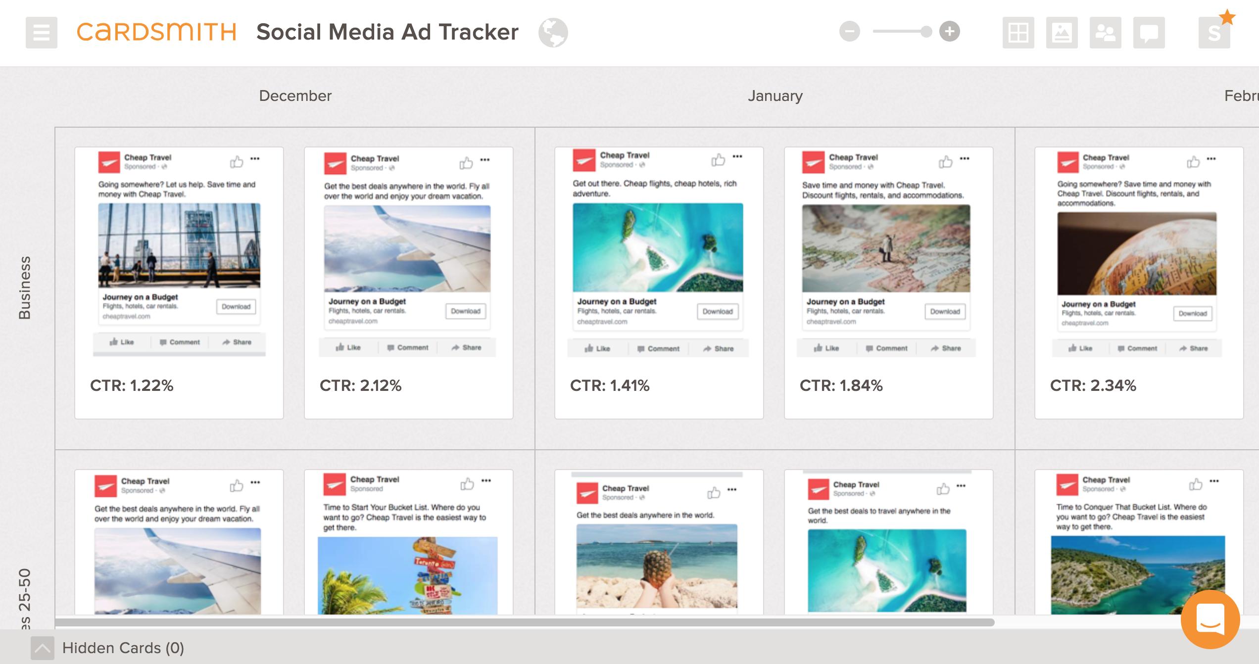 social media ad tracker example
