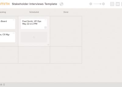 Stakeholder Interview Tracker