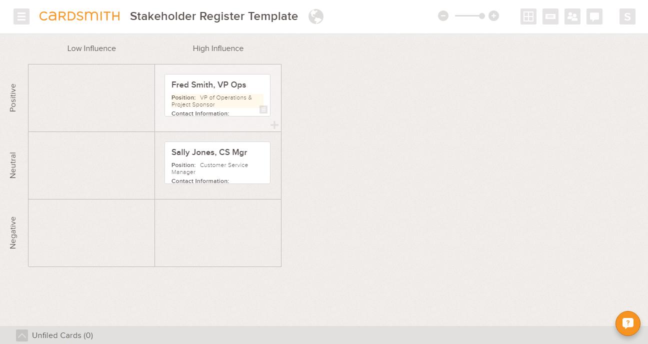stakeholder register template example