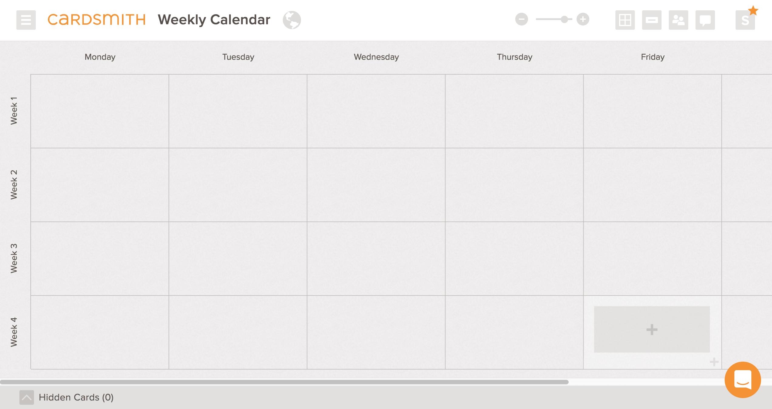 weekly calendar template board example