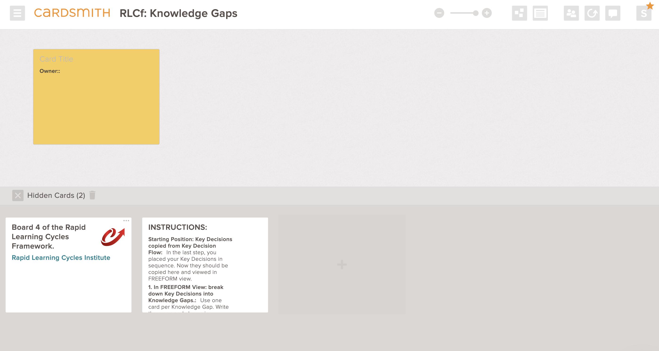 rlc knowledge gaps template